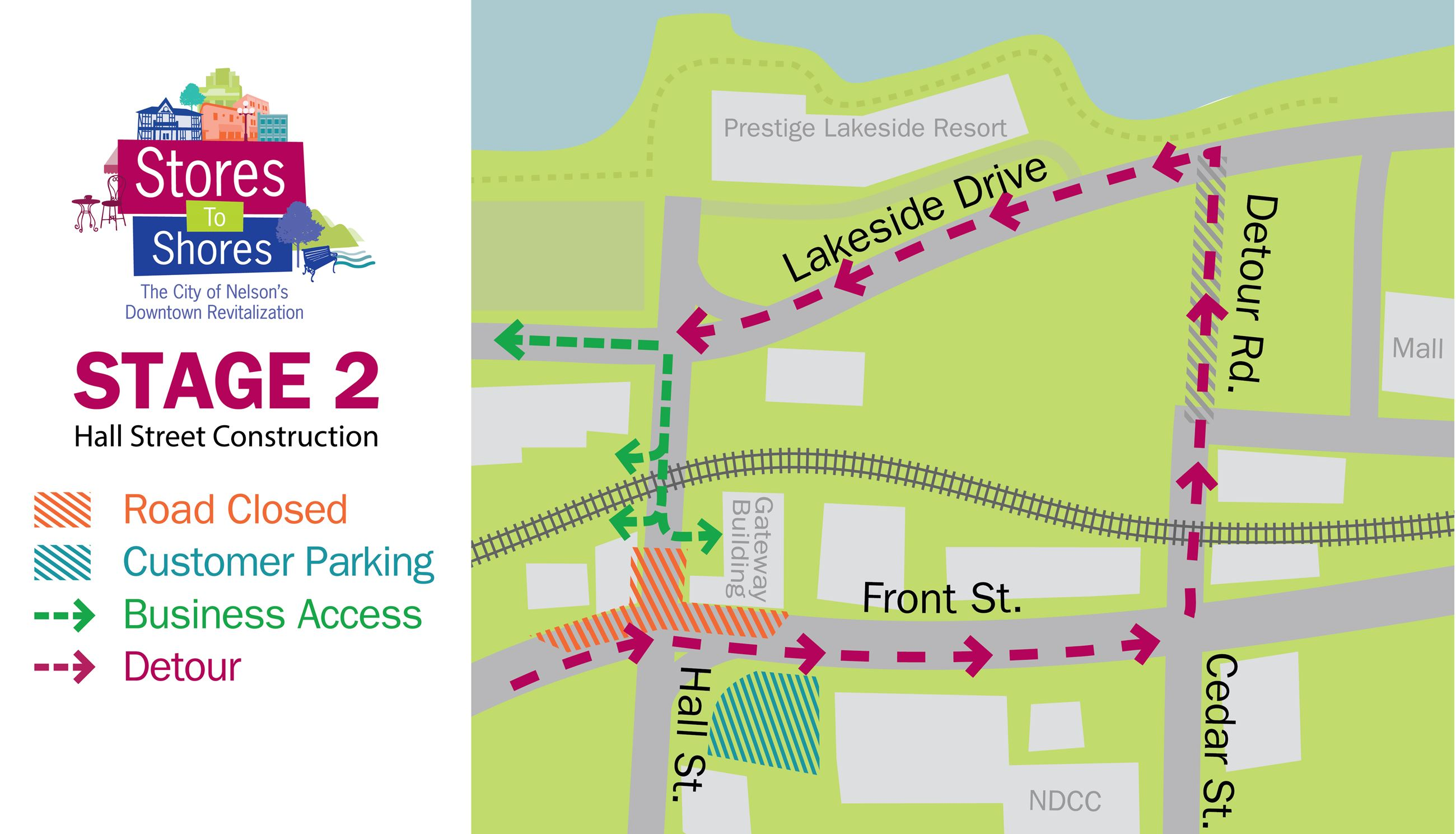 Stage 2 - Phase 2 Hall Street Detour Map