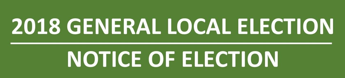 Web Notice of Election
