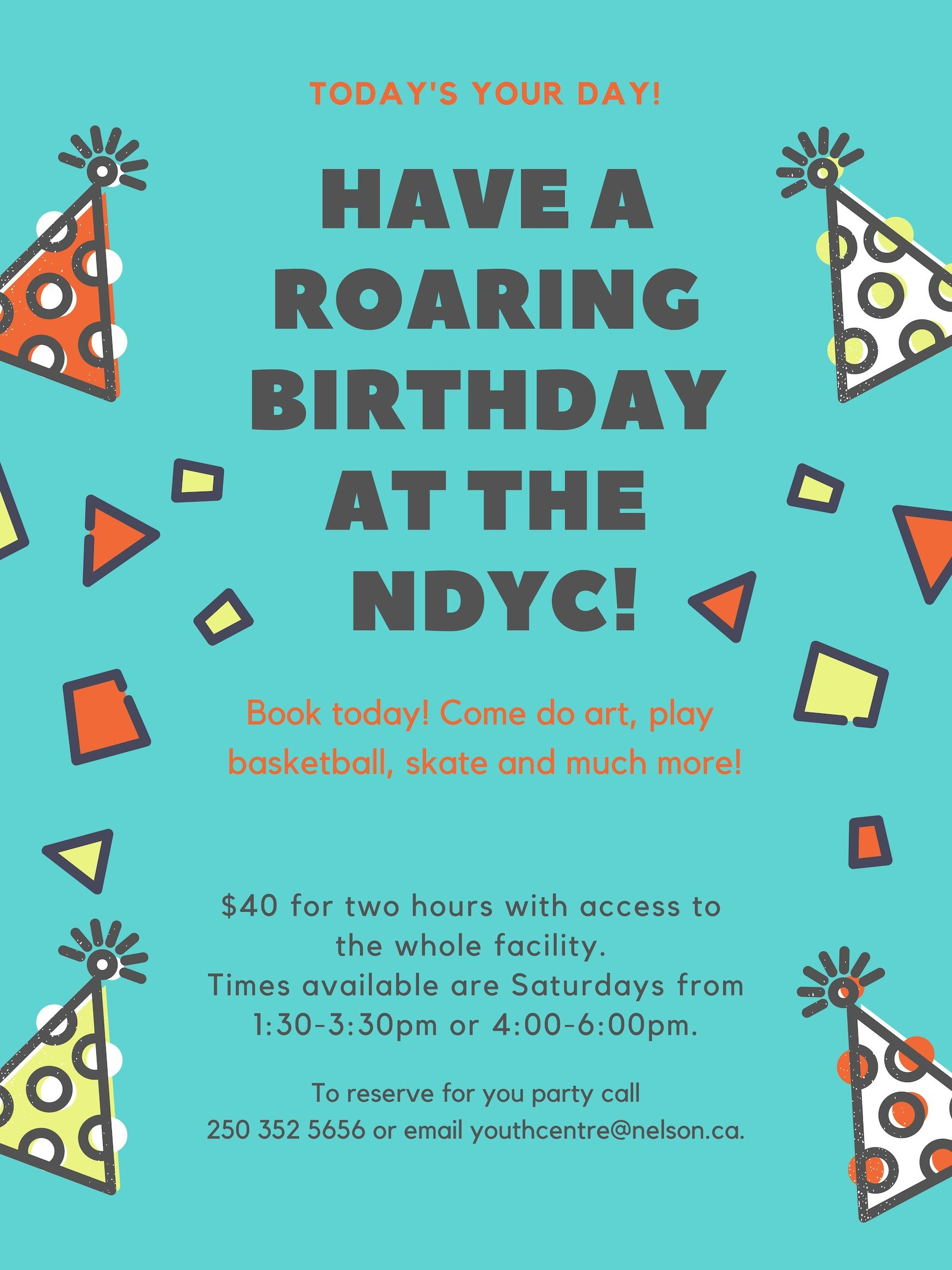 Birthday party rental poster- updated 2019